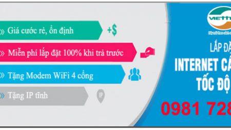 Lắp đặt internet và truyền hình Viettel tại Quảng Ngãi