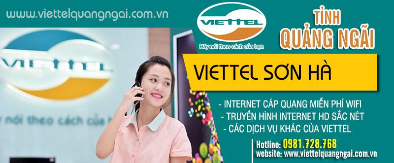 Dịch vụ internet và truyền hình Viettel huyện Sơn Hà