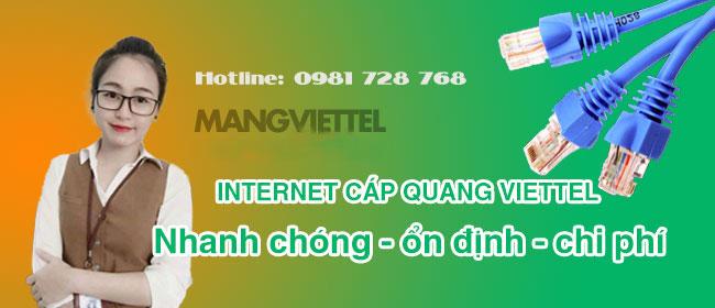 Dịch vụ khuyến mãi lắp mạng và truyền hình Viettel Minh Long, Quảng Ngãi