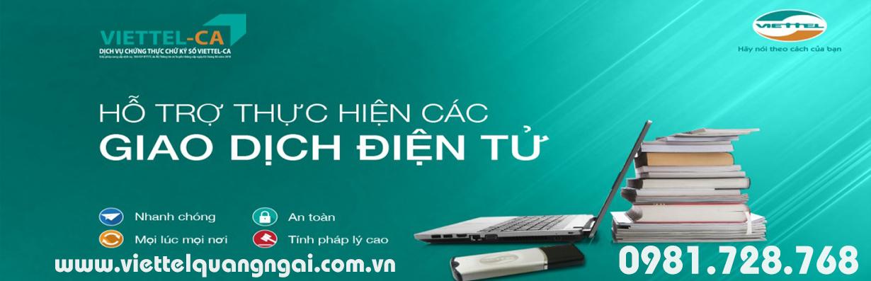 Chữ ký số Viettel-CA Quảng Ngãi